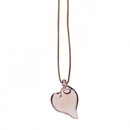 Adult love pendant pink glass