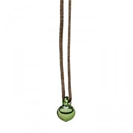 Petite E pendant green glass