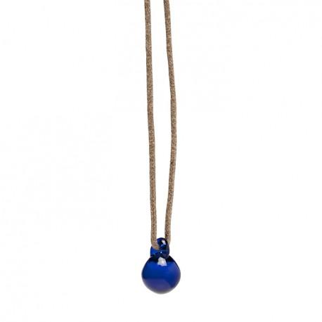 Petite E pendant blue glass