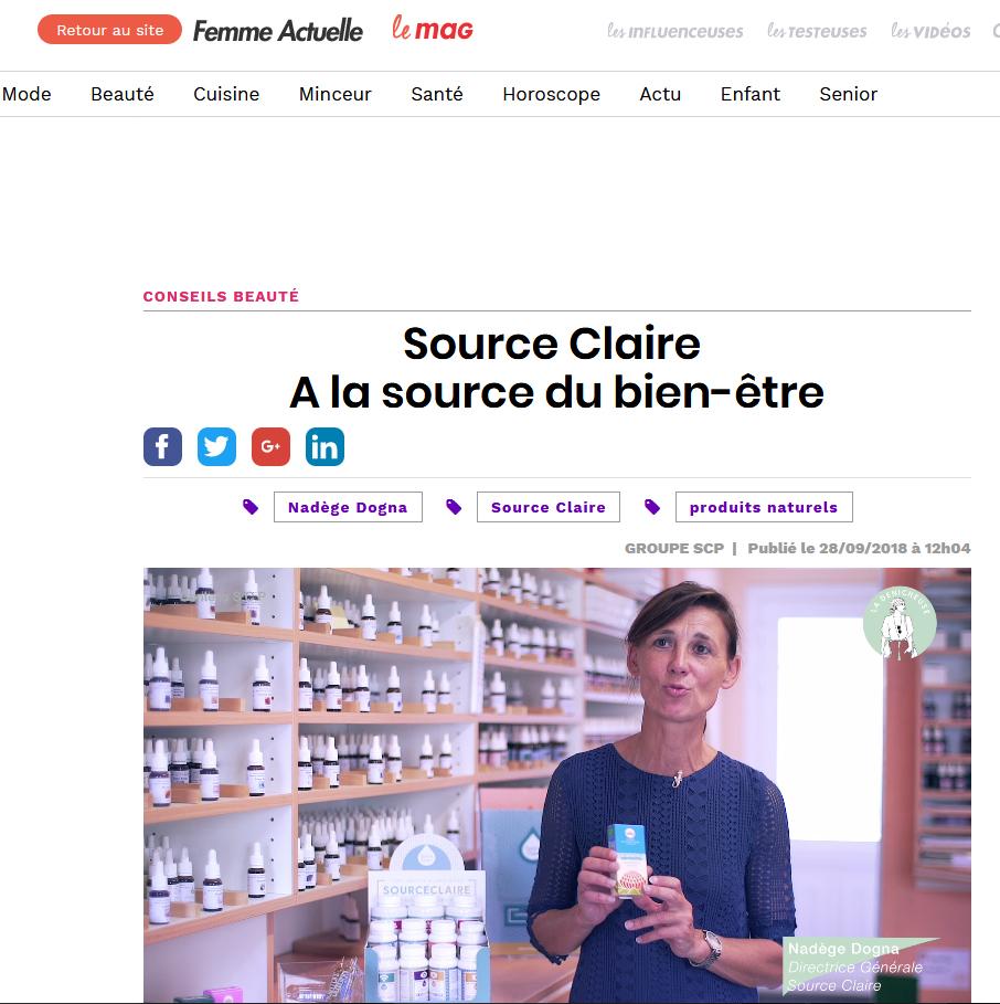 Source Claire chez Femme Actuelle