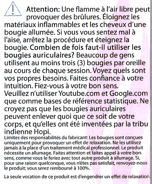 bougies auriculaires recommandations