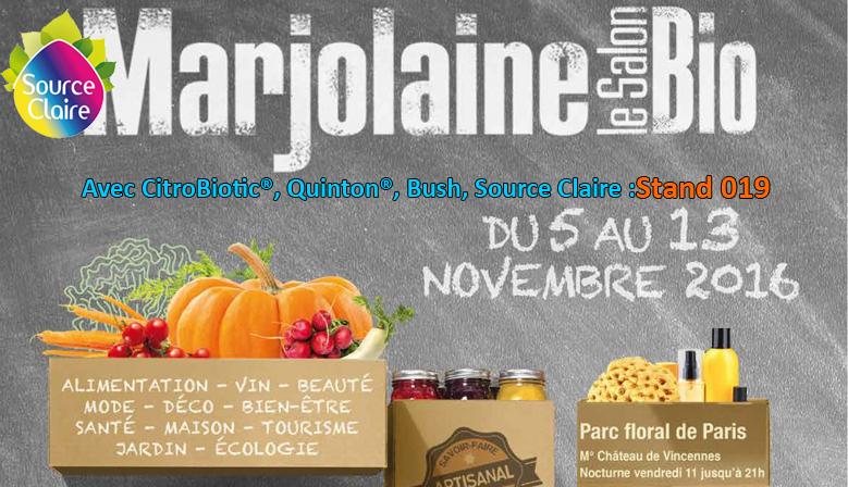 Salons source claire distributeur bush abfe for Salon marjolaine 2016